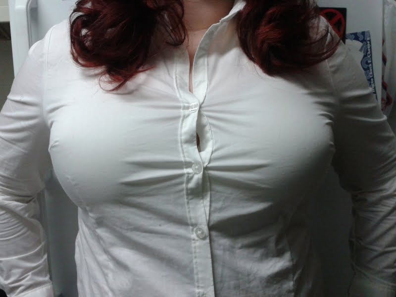 Tits button up shirt big