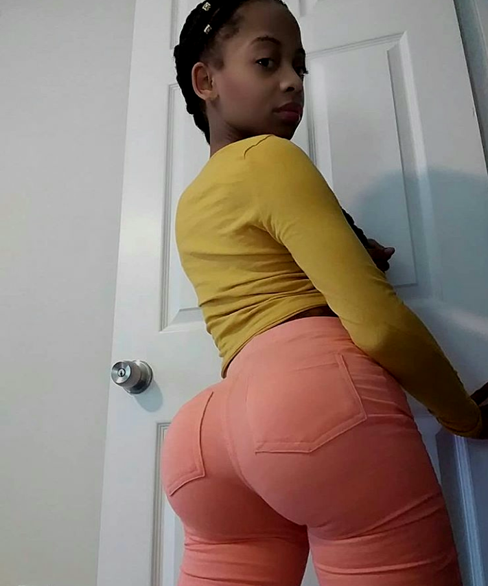 Bubble butt skinny girl big